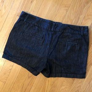 LOFT Shorts - LOFT Dark Denim Shorts with 3-inch Inseam